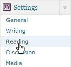 Under Settings, click Reading.