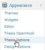 Select Thesis Options.