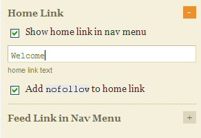 Checkmark Show home link in nav menu.